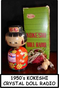 KOKESHI RADIO PICTURE WITH LABEL